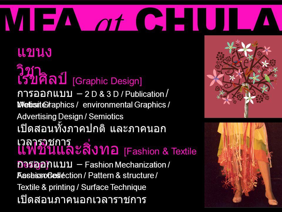 MFA at CHULA แขนงวิชา เรขศิลป์ [Graphic Design]